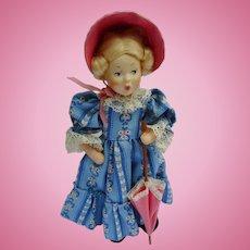 Vintage Austria Baitz Composition Girl with Umbrella