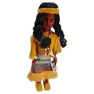"Vintage German Native American Doll leather Dress 7"""