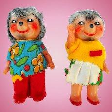 Vintage German pair Hedgehog Toy Animals