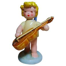 Old German Steinbach Angel with guitar