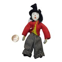 Vintage German composition Doll circus manager 4""