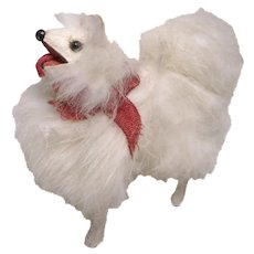 Vintage german Spitz  fur Dog dolls size