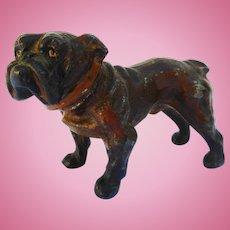 Antique 19 th C Dollhouse Size miniature metal DOG  GERMAN MASTIFF