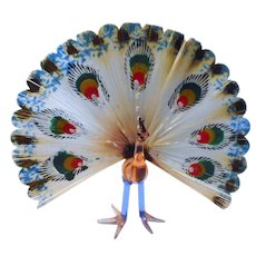 Antique 1920´s  Bimini Glass Peacock Christmas Ornament  Figure