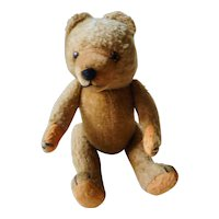 Old German STeiff Teddy Bear inside wood wool no button