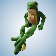 60´s  german Steiff Frog Cappy all I D´s