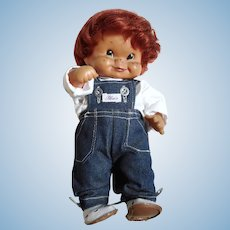 w.germany 1957 Charlot Byj goebel hummel  rubber doll red hair