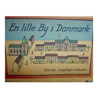 "Old Denmark wood building blocks  lot 17  houses ""small town in denmark"""