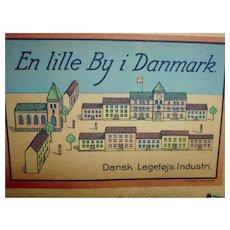 "Old Denmark wood building blocks  lot 17  houses ""small town in denmark"""