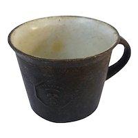 Old German dollhouse smoker kitchen iron fire Pot