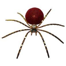 vintage Czech Gablonz spider brooch rhinestones HALLOWEEN 1