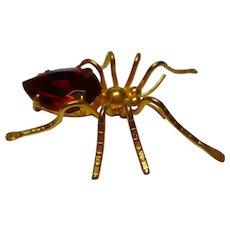 vintage Czech Gablonz spider brooch rhinestones HALLOWEEN3