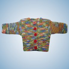 """Vintage German knitted waistcoat vest for doll 14"""""""