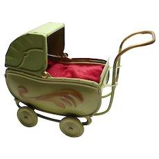 Vintage German art deco doll´s stroller tin toy