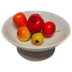 Antique German miniature Dollhouse  porcelain Fruit Bowl