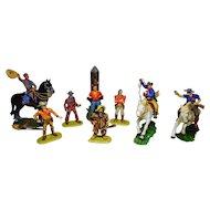 50´s German Elastolin Cowboys 11 pieces