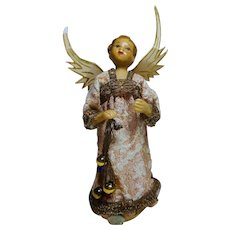 Vintage German Angel Tree Topper with balls