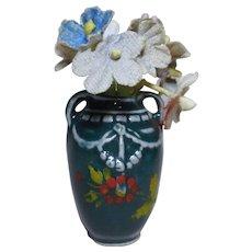Art Nouveau Dollhouse miniature Flower  pottery Vase