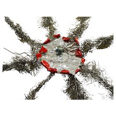 Old German tinsel christmas tree topper star