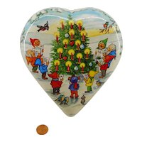 German christmas dwarf  heart  candy container