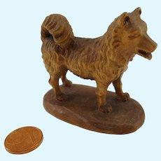 Vintage German carved wooden Dog dollhouse size