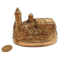 Nuremberg Castle Nuernberg Burg copper Souvenir Building