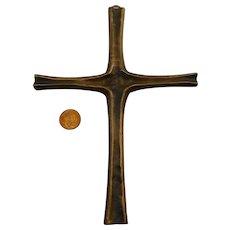 Christian Modernist bronze Cross