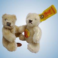 vintage miniature 2 Teddy Bear mohair Steiff