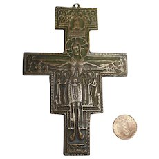 vintage German christianity bronze Cross