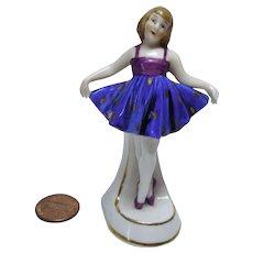 old German Dollhouse miniature china ballerina