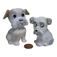 Vintage German lot 2 miniature china dog