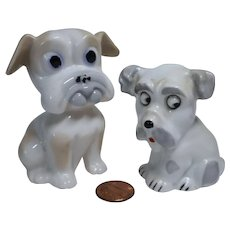 Vintage German lot 2 miniature china dog