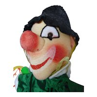 "vintage German hand puppet Kersa  ""Clown"" unused"