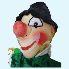 """vintage German hand puppet Kersa  """"Clown"""" unused"""