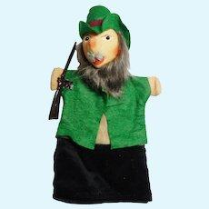 "vintage German hand puppet Kersa "" Forester"" unused"