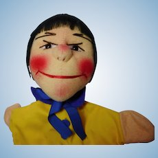 """vintage German hand puppet Kersa """" Max"""" unused"""