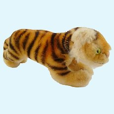 Vintage German bigger Size Mohair Steiff TIGER without IDs
