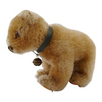 "Vintage 4"" Mohair Steiff Teddy bear without IDs with bell"