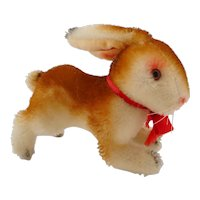 Old German hermann teddy mohair Rabbit with ID