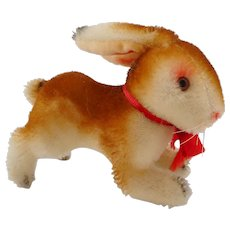 Old German hermann teddy mohair Rabbit with ID