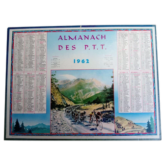 1962 French Post Almanach