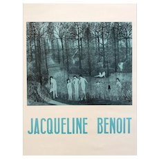 Original Vintage French listed artist Jacqueline Benoit Art Exhibition Poster