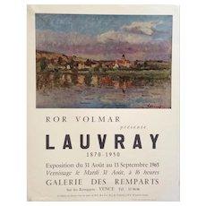 Original Mid Century Modern Art Exhibition Poster