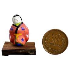Japanese Miniature Clay Doll Kiyomizu Mame Ningyo