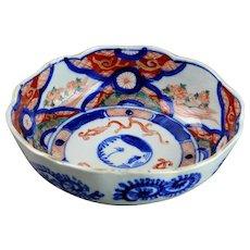 Antique Japanese Imari Porcelain Henkei Bowl