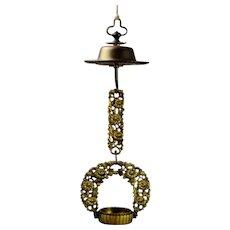 Japanese Buddhist Altar Rinto Hanging Lantern Rinto