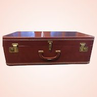 "CLEARANCE: 1930's Leather 29"" Pullman w/Canvas Cover"