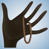 "Braided Gold Bracelet 14 Karat, 7"""