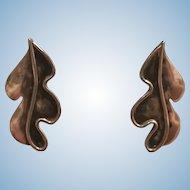 1950s Vintage Caroline Gleick Rosene Signed Sterling Silver Earrings