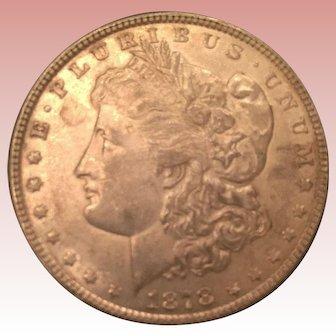 1878 Morgan Silver Dollar/t TF